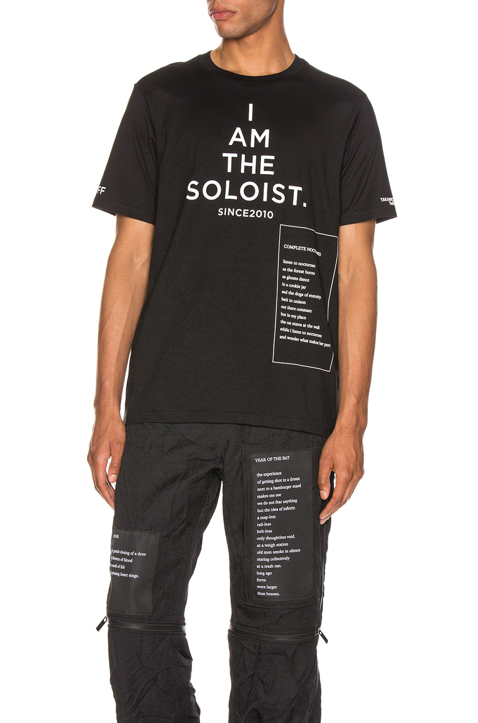 Image 1 of TAKAHIROMIYASHITA The Soloist Bootleg Staff Tee in Black