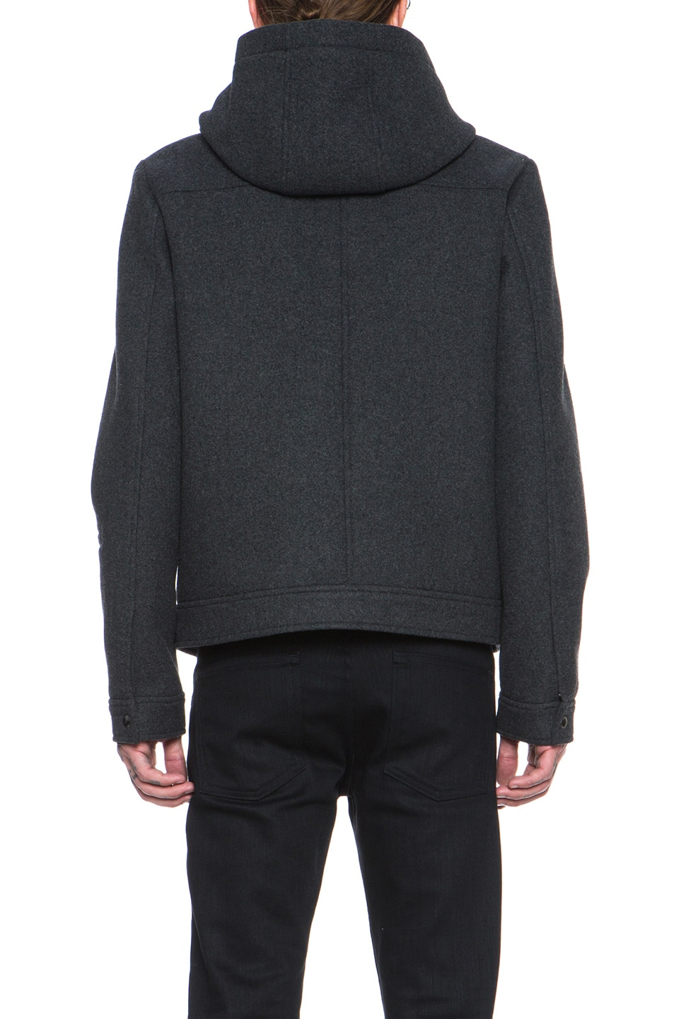 55f599c34653a Image 5 of T by Alexander Wang Wool Bonded Neoprene Jacket in Charcoal