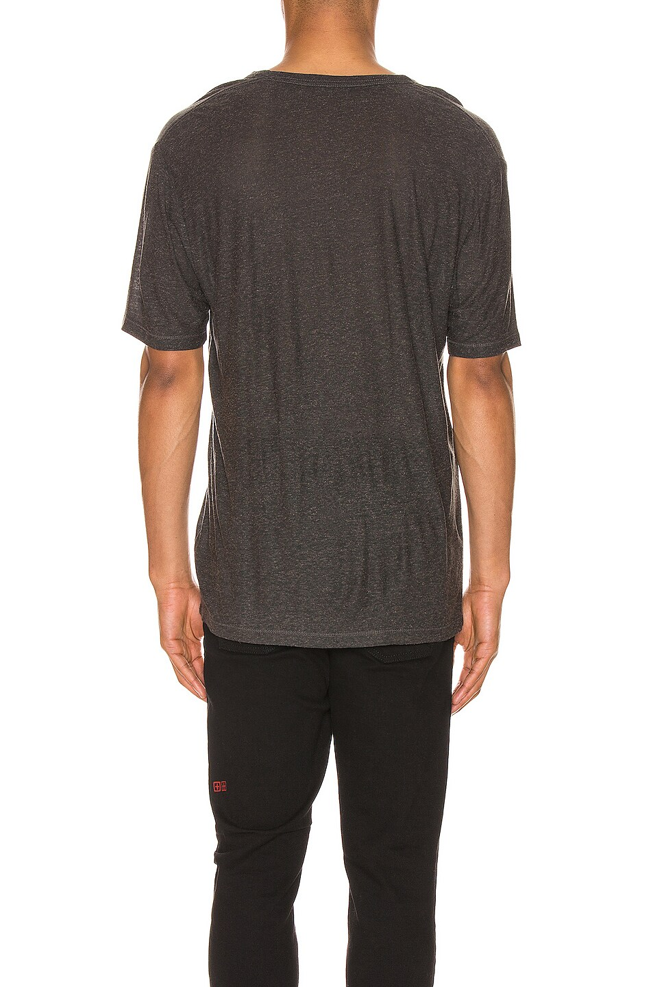 Image 3 of T by Alexander Wang Low Neck Tee in Charcoal