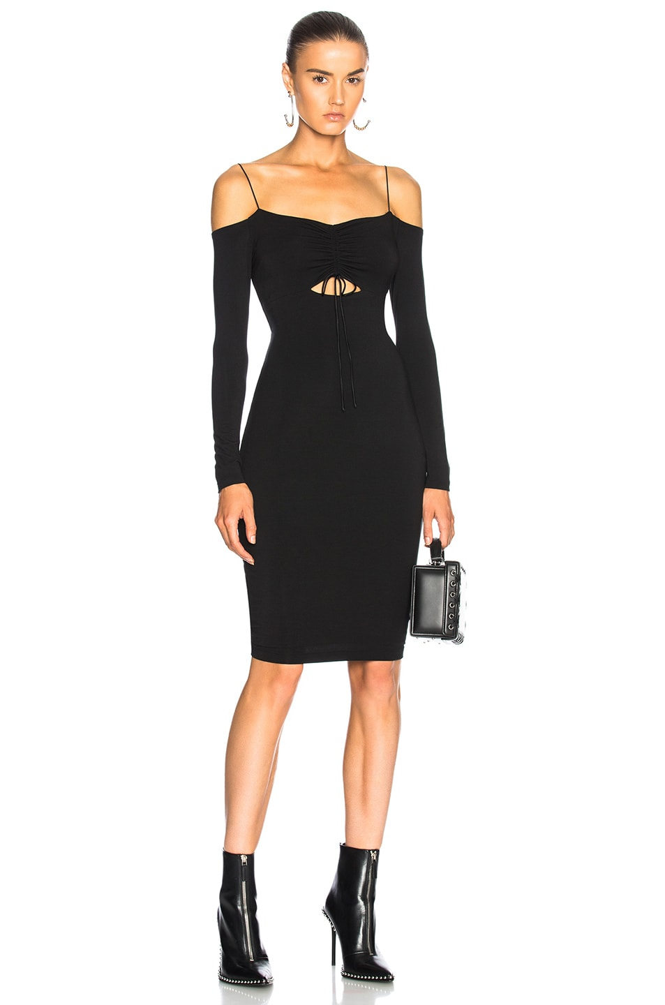3c6f87d5f4 Image 1 of T by Alexander Wang Cut Out Mini Dress in Black