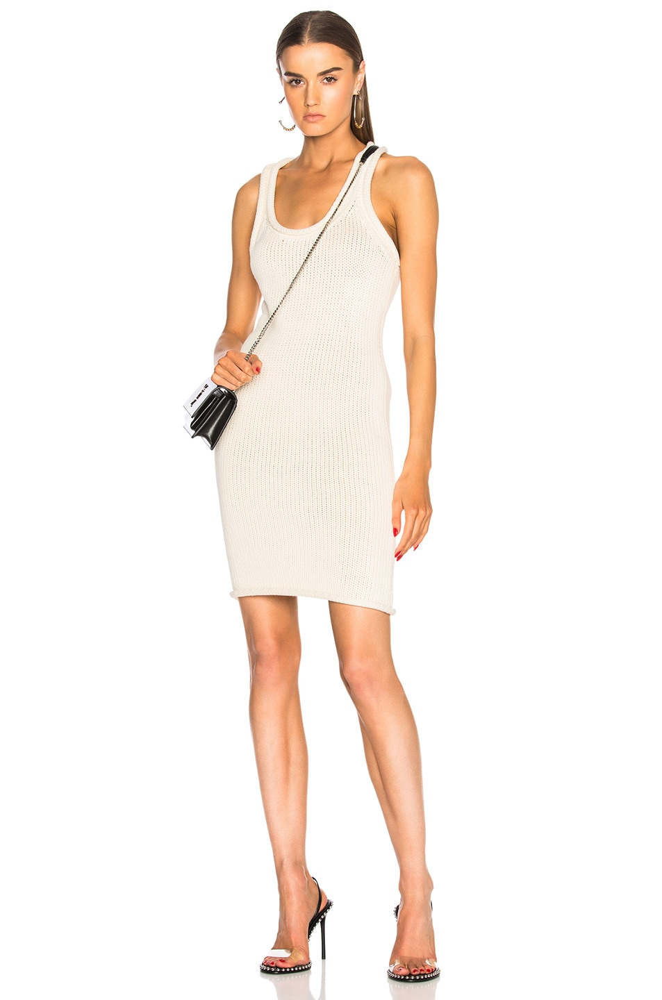 Image 1 of T by Alexander Wang Knit Dress in Ivory