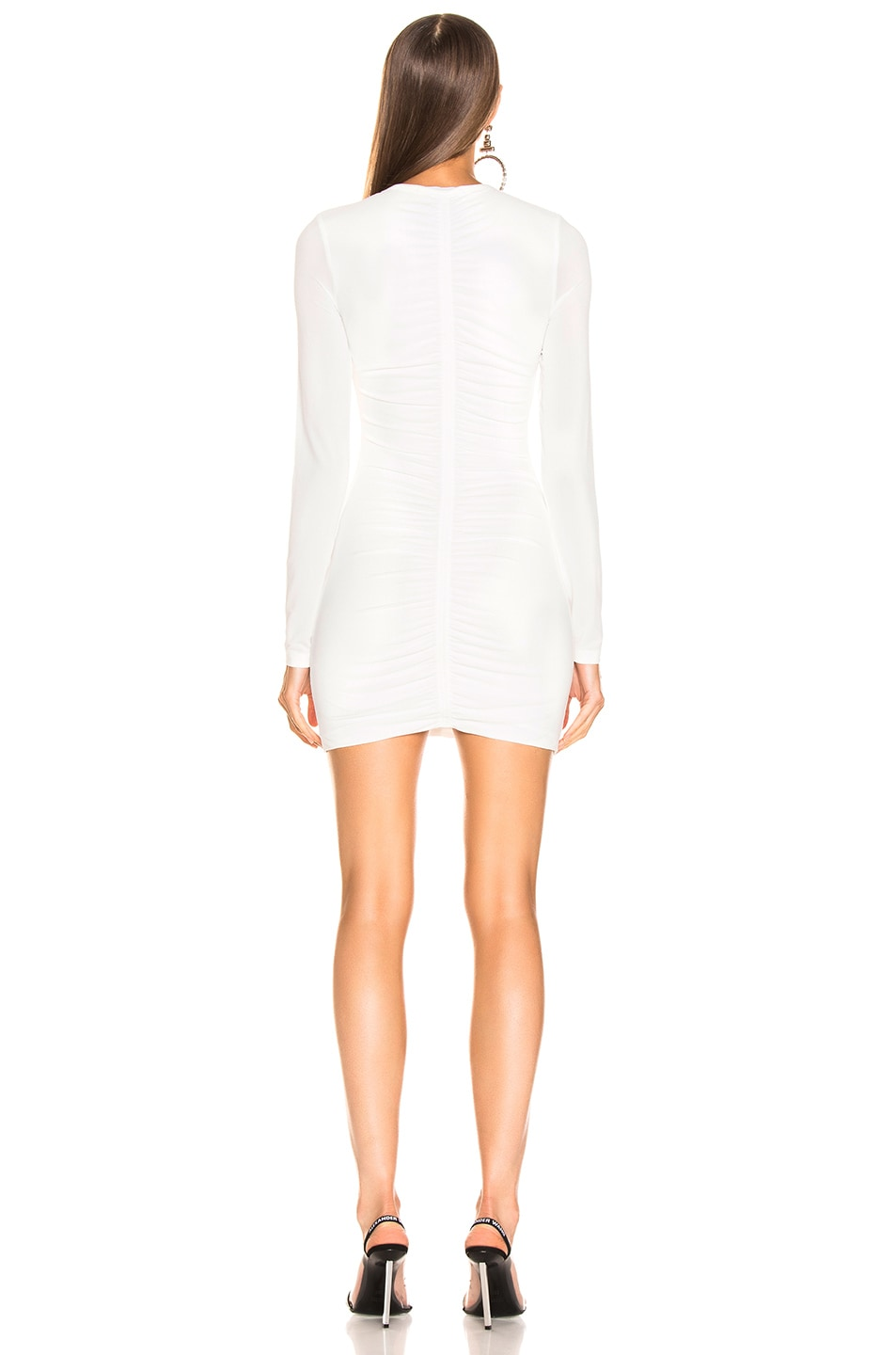 Image 3 of T by Alexander Wang Crepe Long Sleeve Dress in Ivory