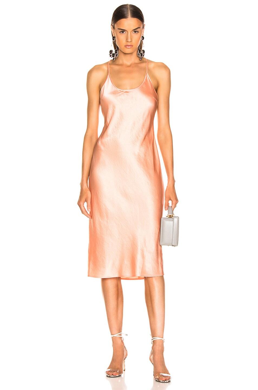 Image 1 of T by Alexander Wang Wash & Go Woven Dress in Papaya