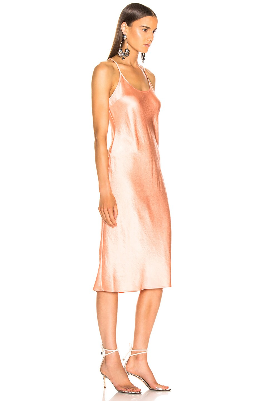 Image 2 of T by Alexander Wang Wash & Go Woven Dress in Papaya