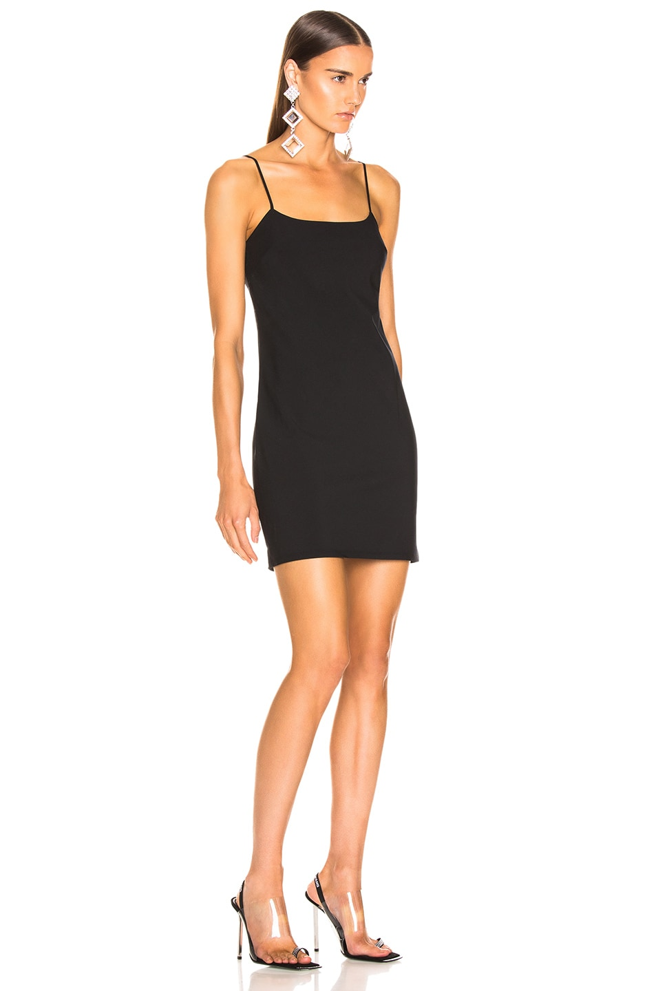 Image 2 of T by Alexander Wang Washable Wool Mini Dress in Black