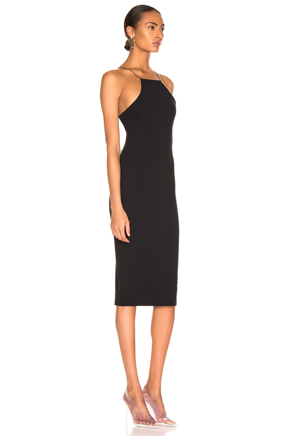 Image 2 of T by Alexander Wang Criss Cross Back Strap Dress in Black