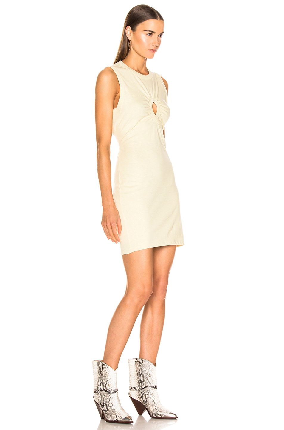 Image 2 of T by Alexander Wang Keyhole Twist Dress in Lime
