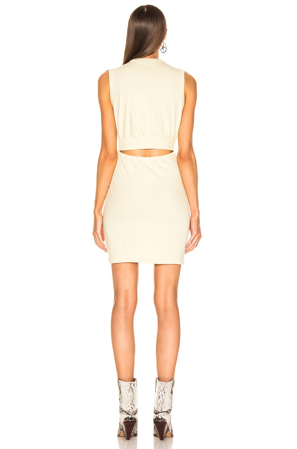 Image 3 of T by Alexander Wang Keyhole Twist Dress in Lime
