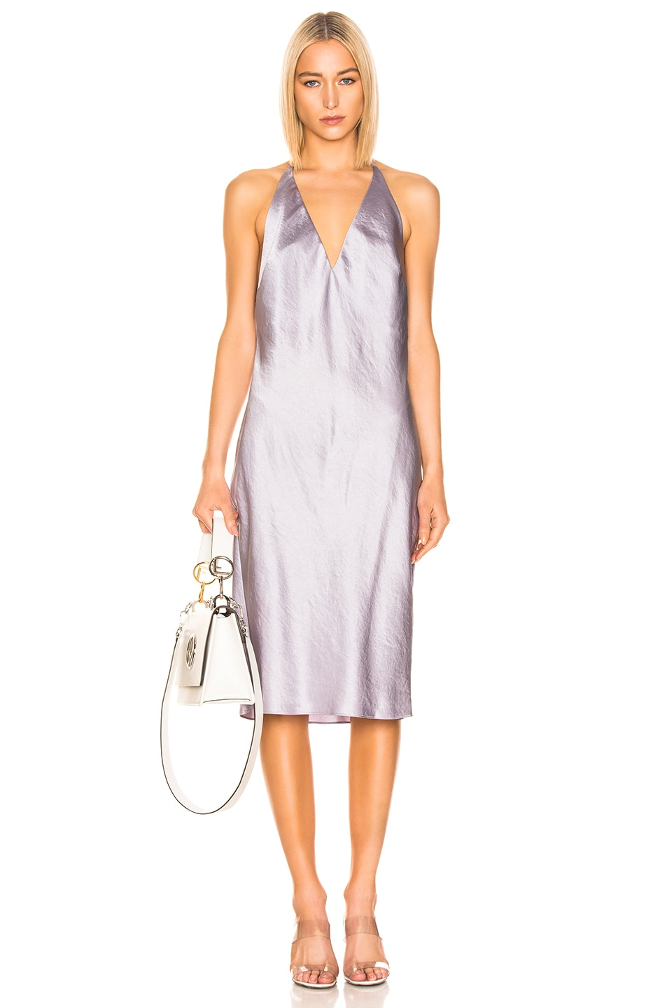 Image 1 of T by Alexander Wang V Neck Dress in Lavender