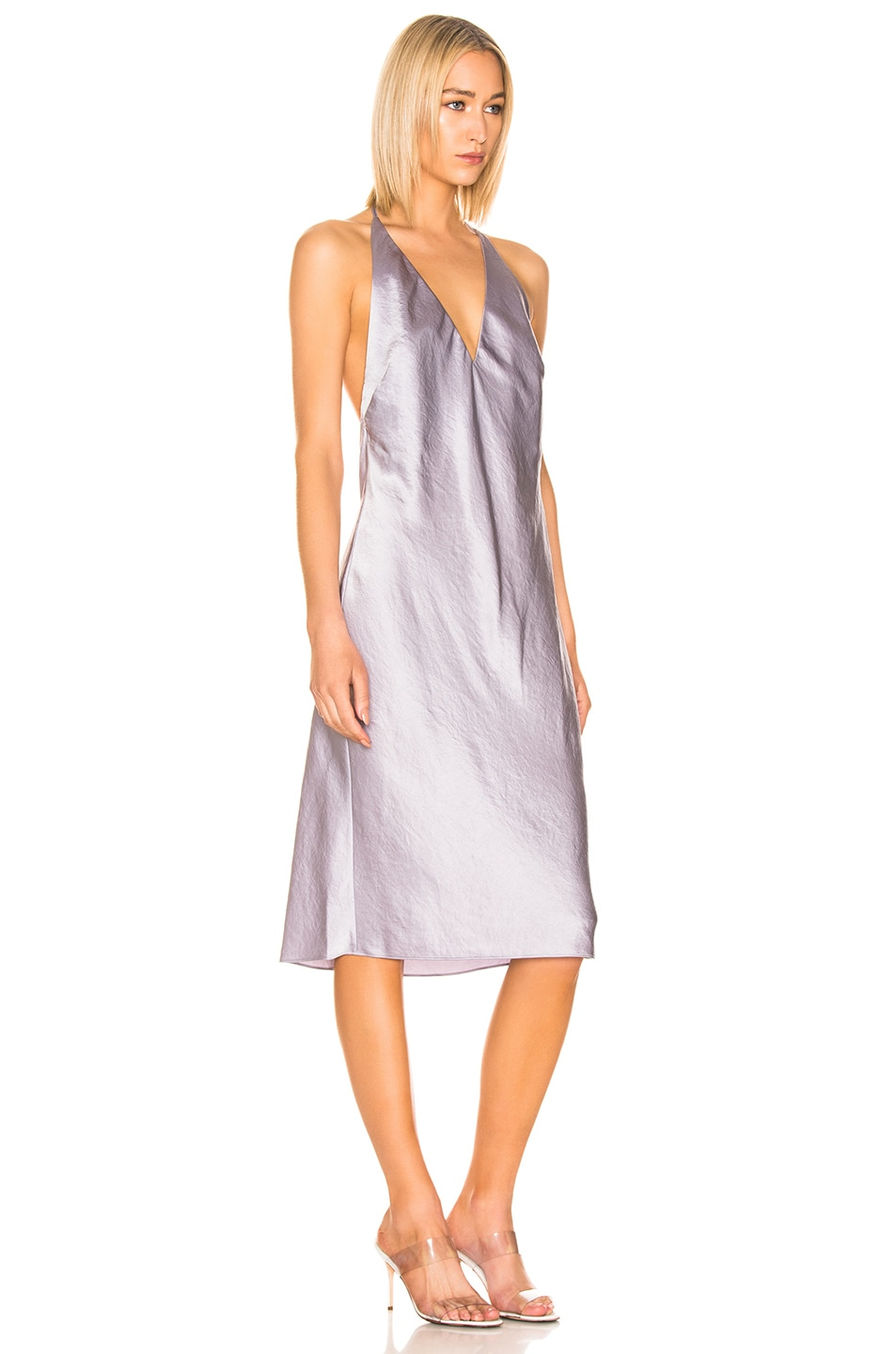 Image 2 of T by Alexander Wang V Neck Dress in Lavender