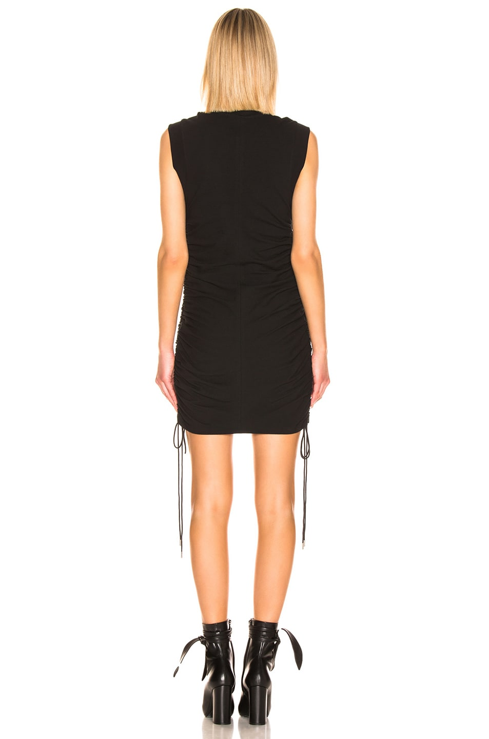 Image 3 of T by Alexander Wang High Twist Ruched Dress in Black