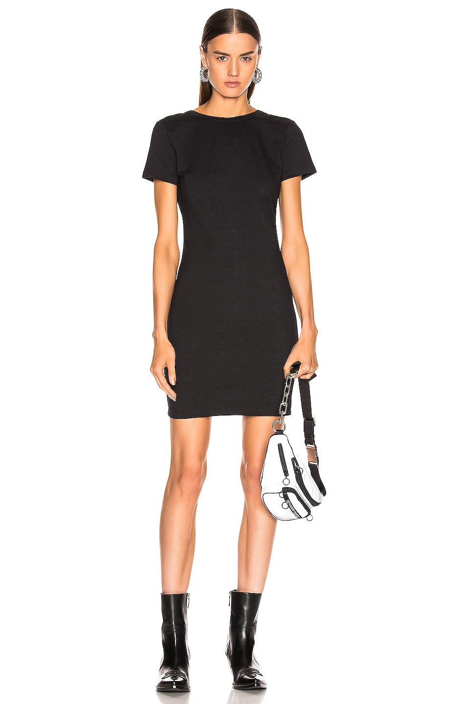 Image 2 of T by Alexander Wang Snaps Dress in Black