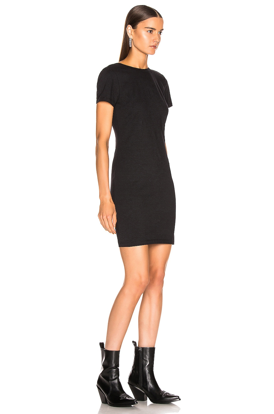 Image 4 of T by Alexander Wang Snaps Dress in Black