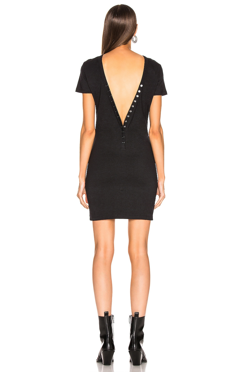 Image 5 of T by Alexander Wang Snaps Dress in Black
