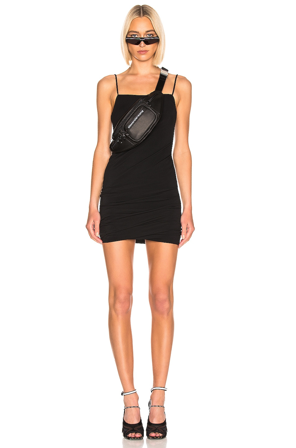 Image 1 of T by Alexander Wang Twisted Cami Dress in Black