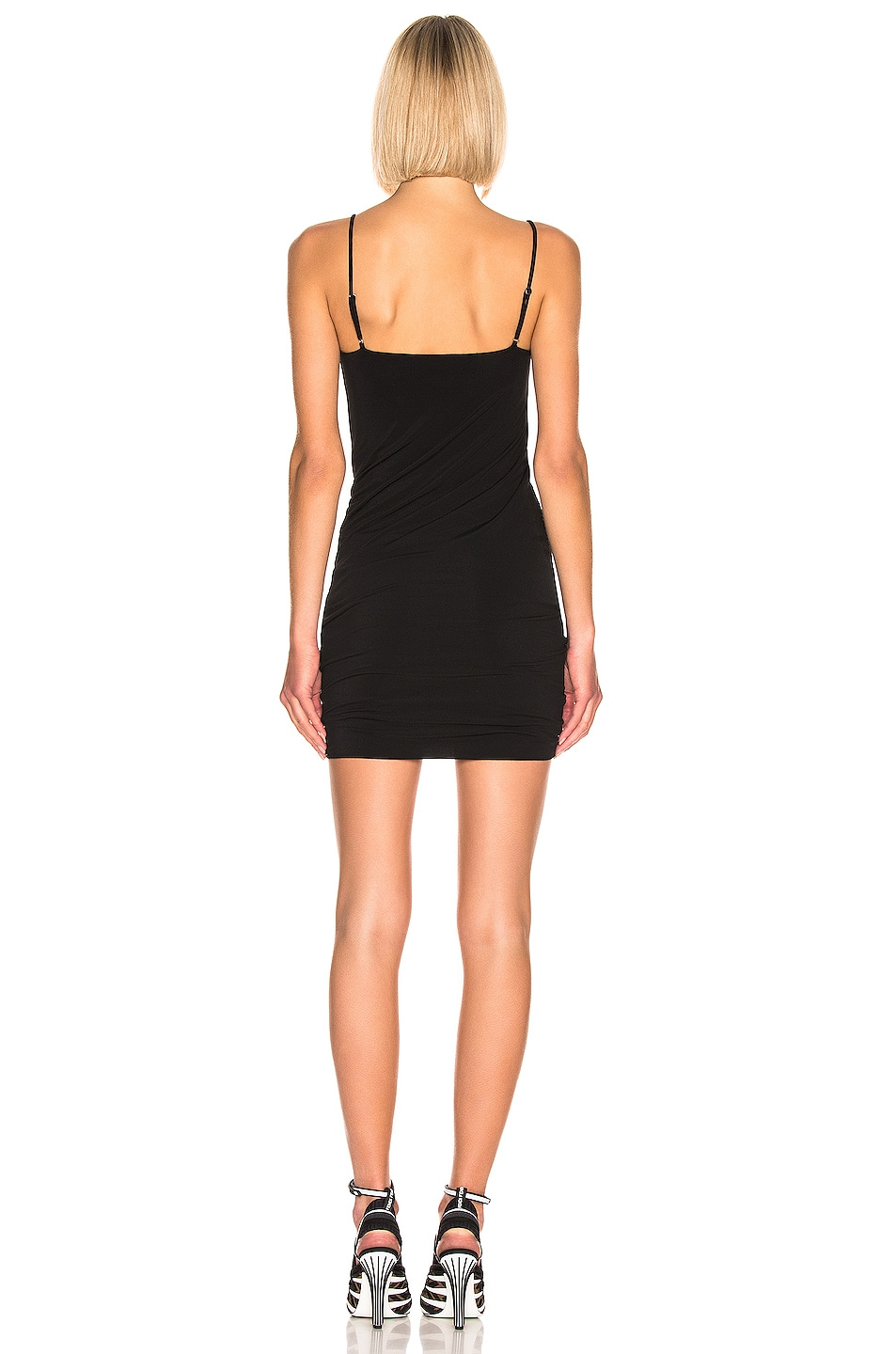 Image 3 of T by Alexander Wang Twisted Cami Dress in Black