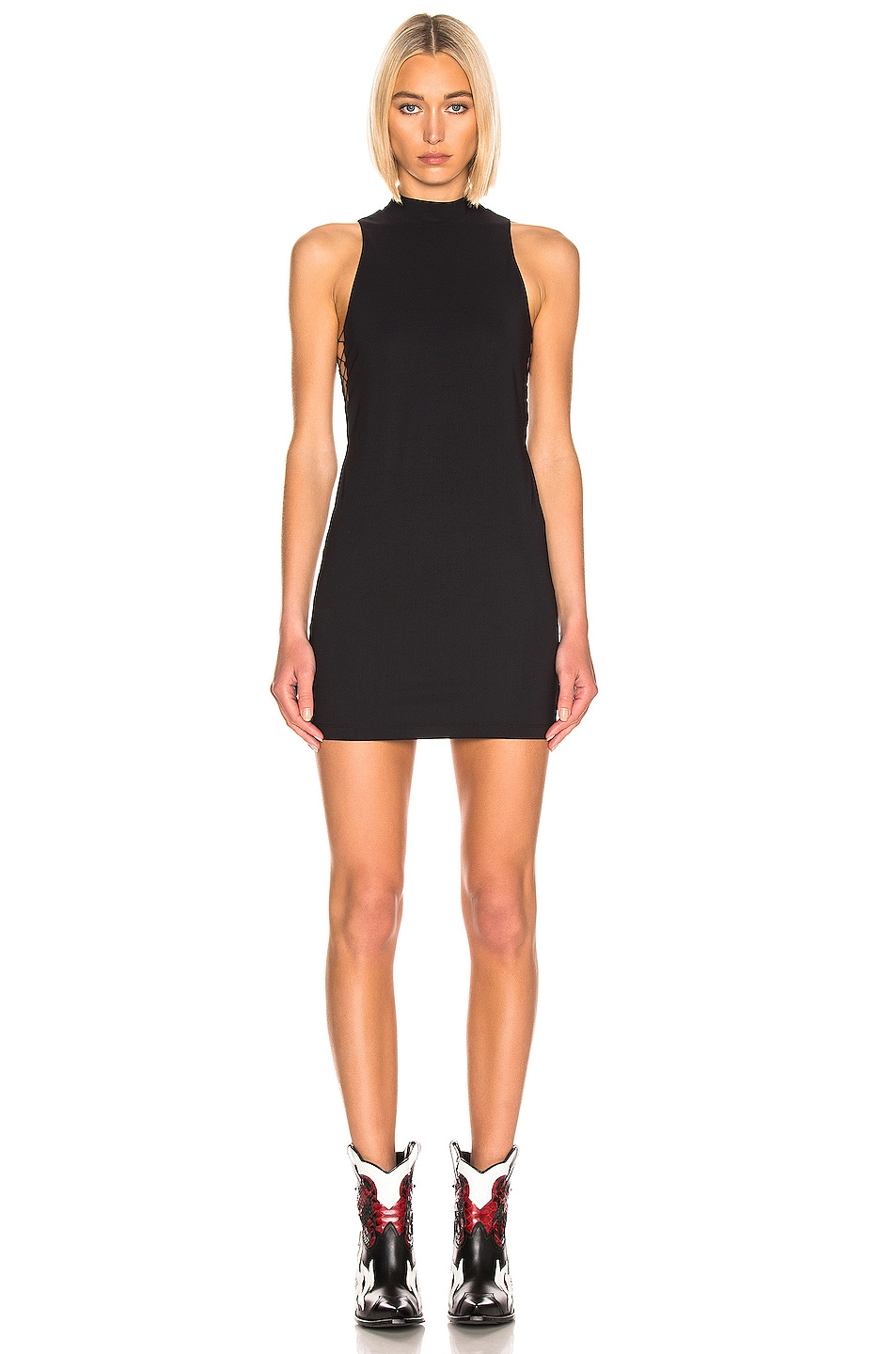 Image 2 of T by Alexander Wang Mock Neck Dress in Black
