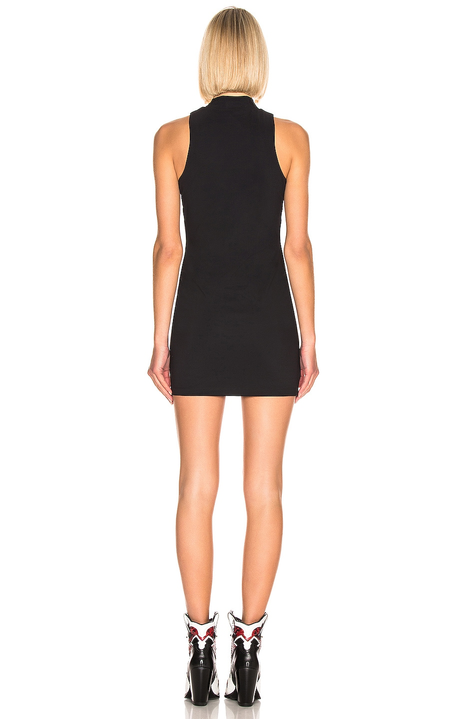 Image 4 of T by Alexander Wang Mock Neck Dress in Black