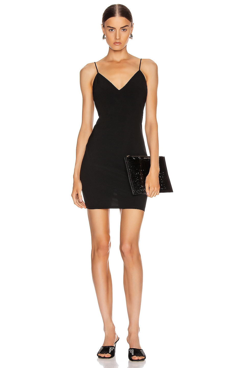 Image 1 of T by Alexander Wang Wash and Go Wool Mini Dress in Black