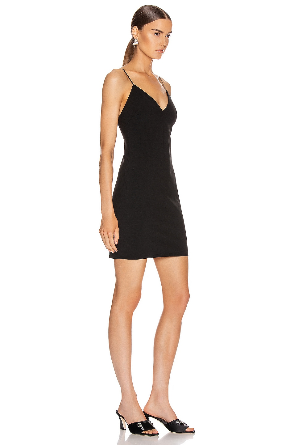 Image 2 of T by Alexander Wang Wash and Go Wool Mini Dress in Black