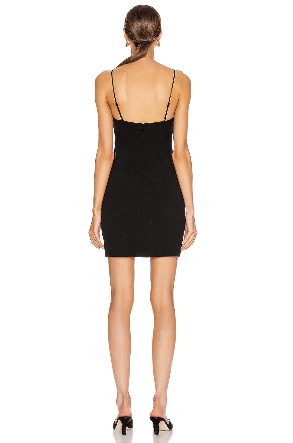 Image 3 of T by Alexander Wang Wash and Go Wool Mini Dress in Black