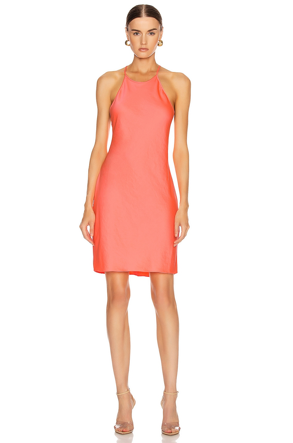 Image 1 of T by Alexander Wang Halter Mini Dress in Pink