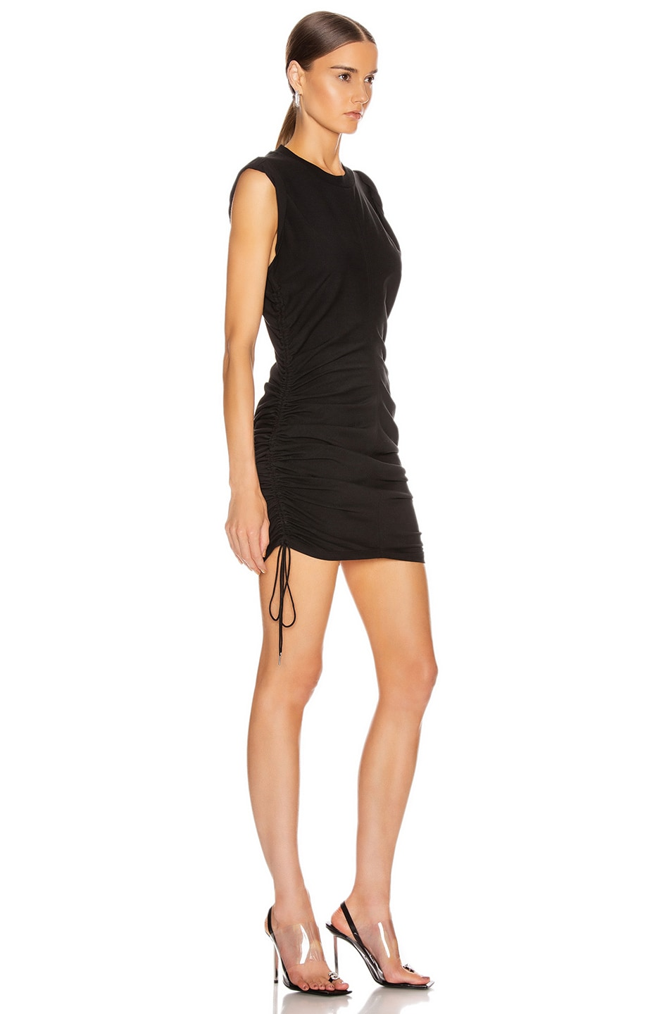 Image 2 of T by Alexander Wang High Twist Dress with Ties in Black