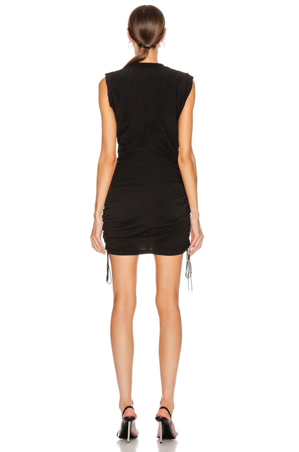 Image 3 of T by Alexander Wang High Twist Dress with Ties in Black