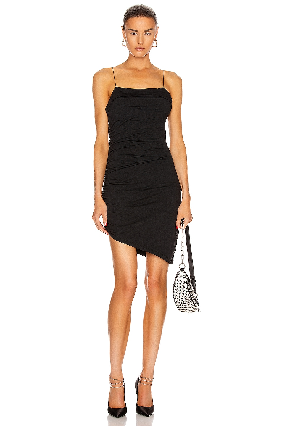 Image 1 of T by Alexander Wang Compact Jersey Mini Dress in Black