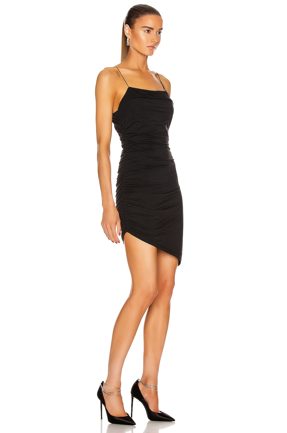 Image 2 of T by Alexander Wang Compact Jersey Mini Dress in Black