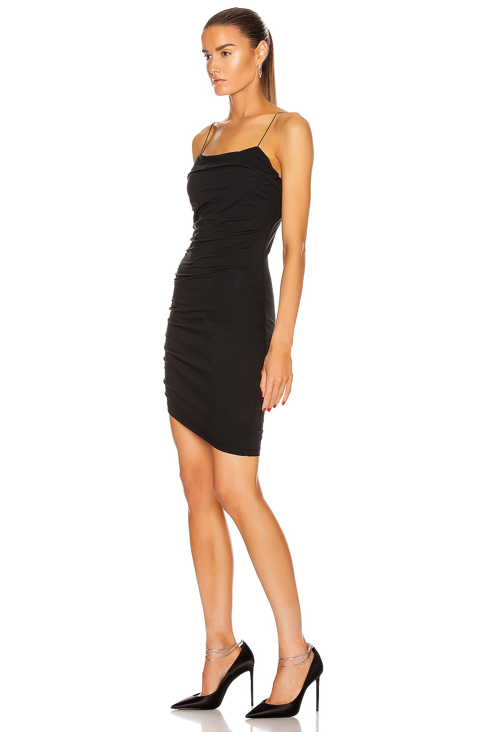 Image 3 of T by Alexander Wang Compact Jersey Mini Dress in Black