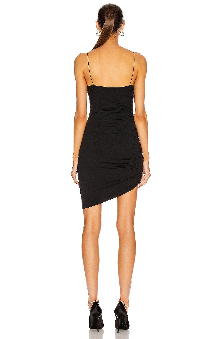 Image 4 of T by Alexander Wang Compact Jersey Mini Dress in Black