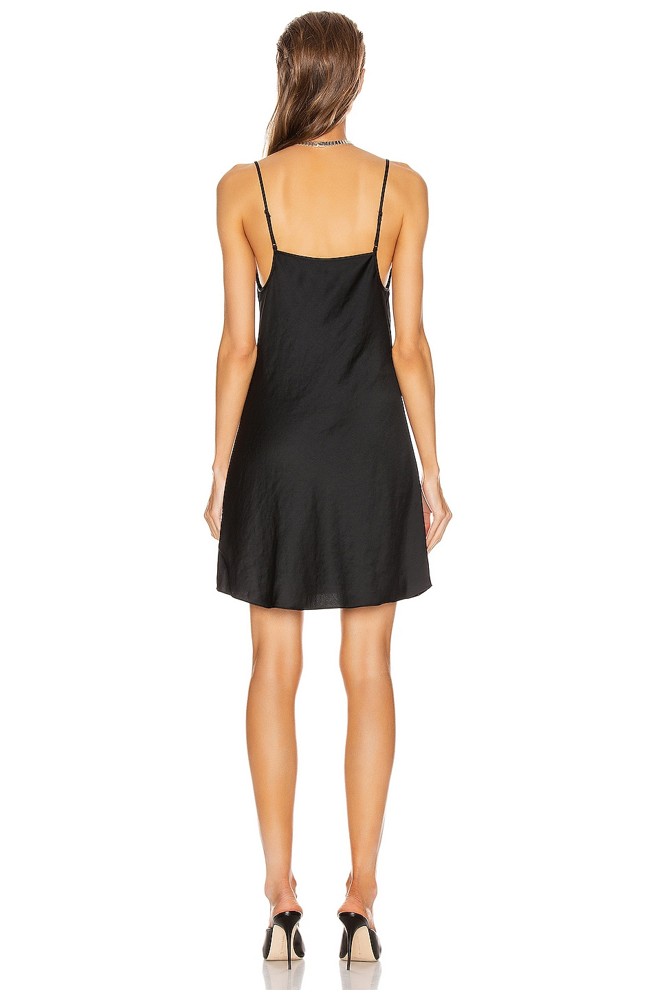 Image 3 of T by Alexander Wang Light Wash & Go Mini Cami Dress in Black