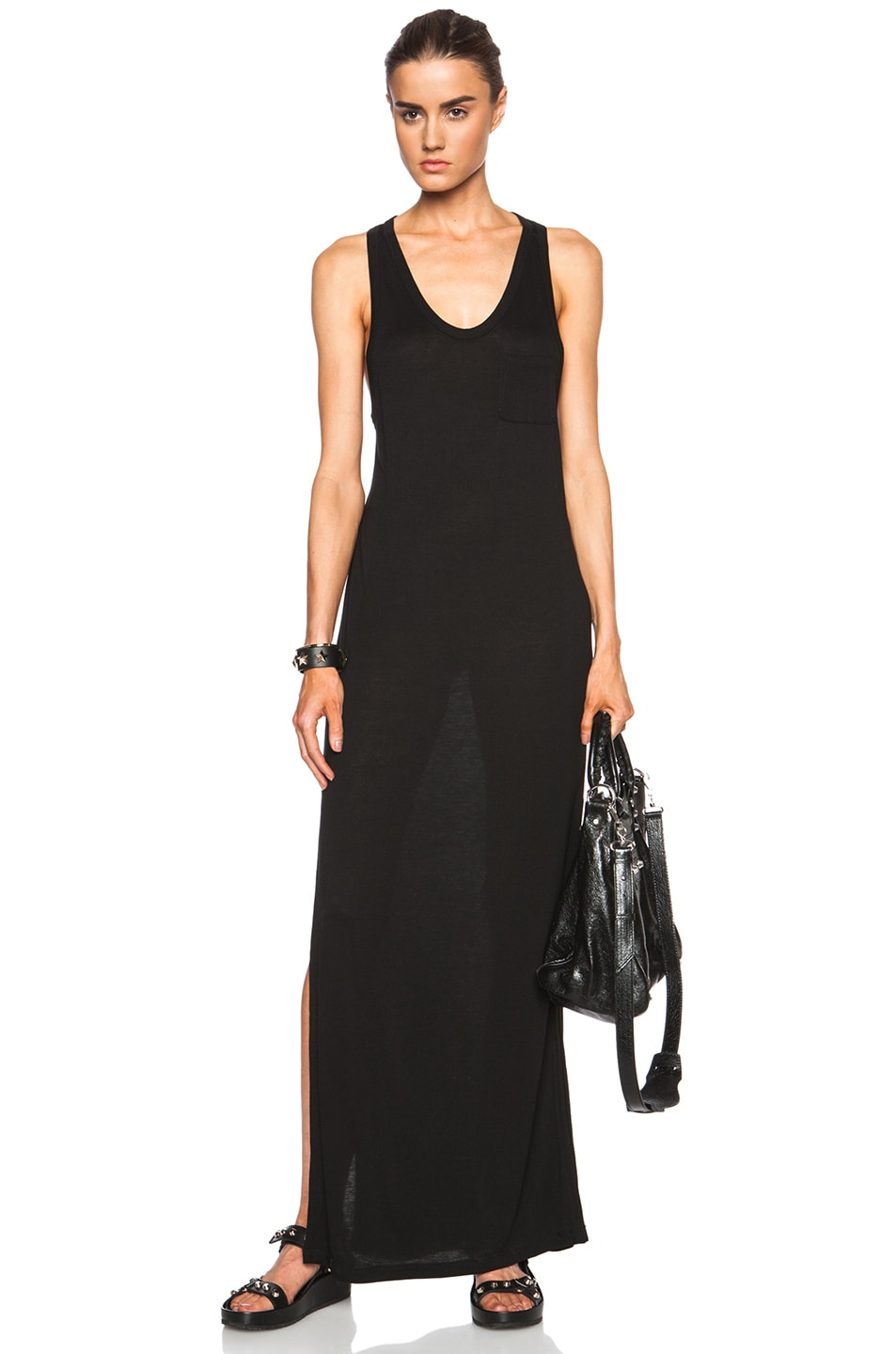 Image 1 Of T By Alexander Clic Viscose Tank Dress With Pocket In Black