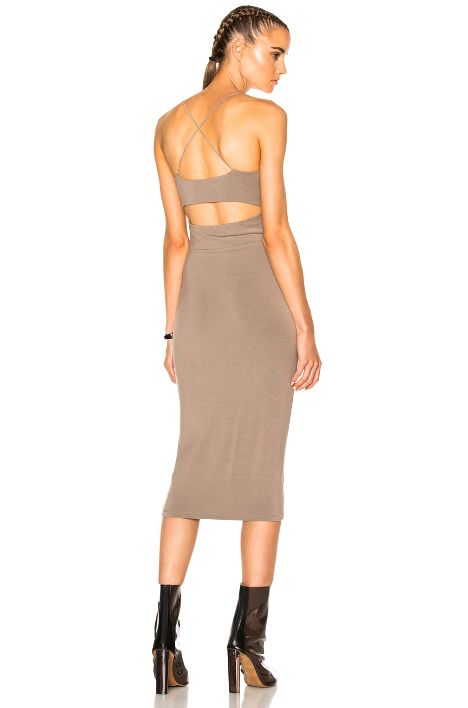Image 1 of T by Alexander Wang Modal Spandex Strappy Cami Dress in Taupe