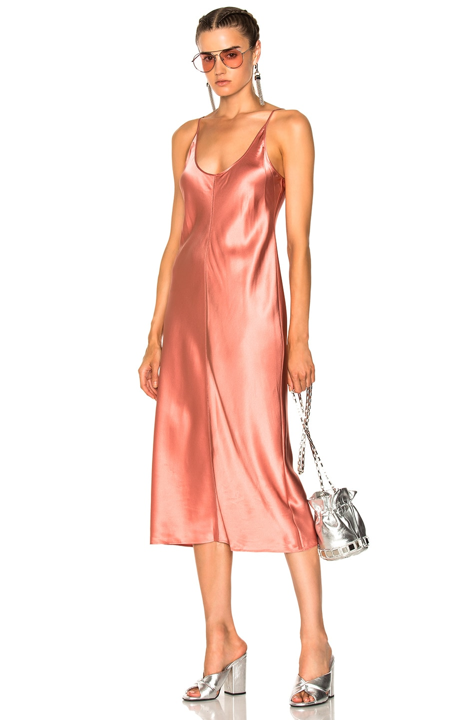 4aaa586c9b5 Image 1 of T by Alexander Wang Slip Dress with Threadwork in Fig