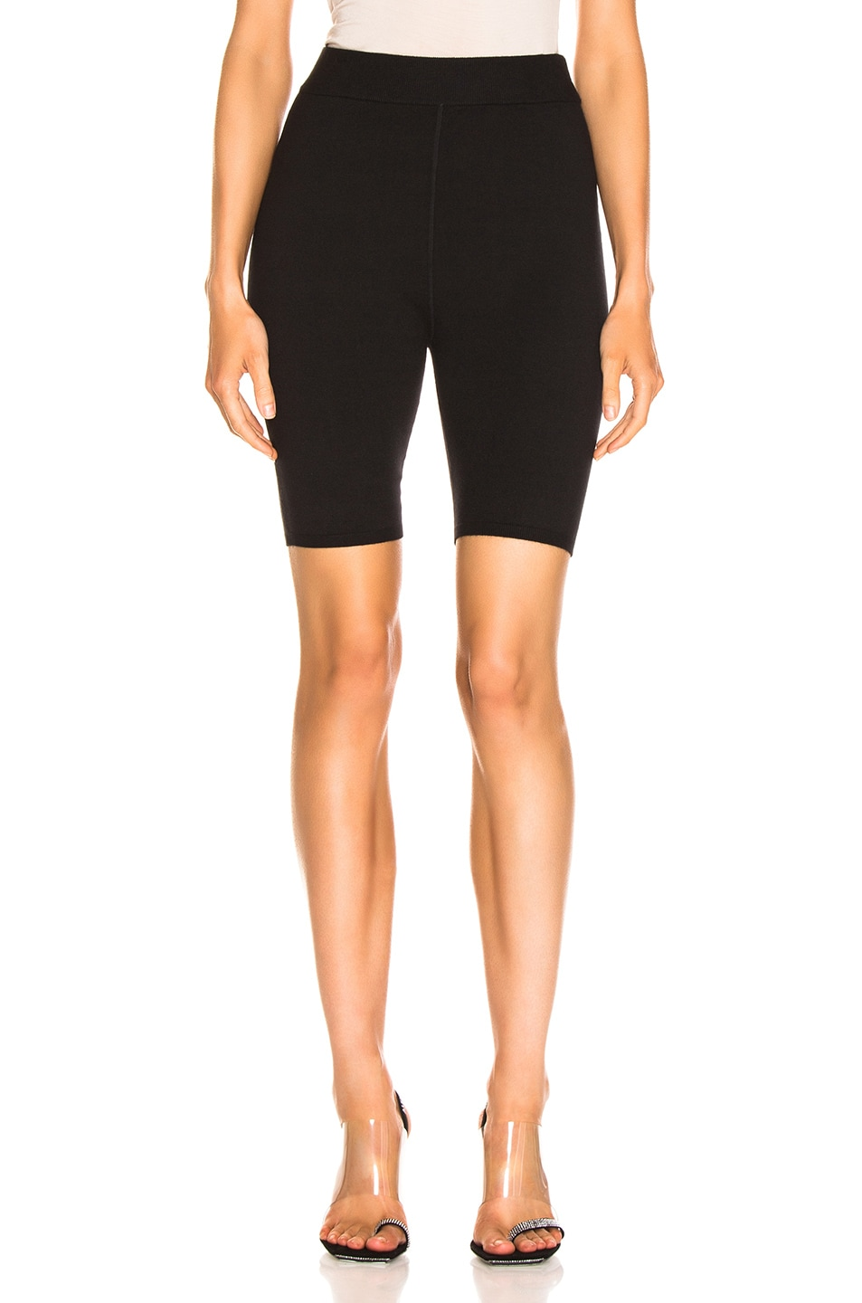 Image 1 of T by Alexander Wang Bodycon Basic Biker Short in Black