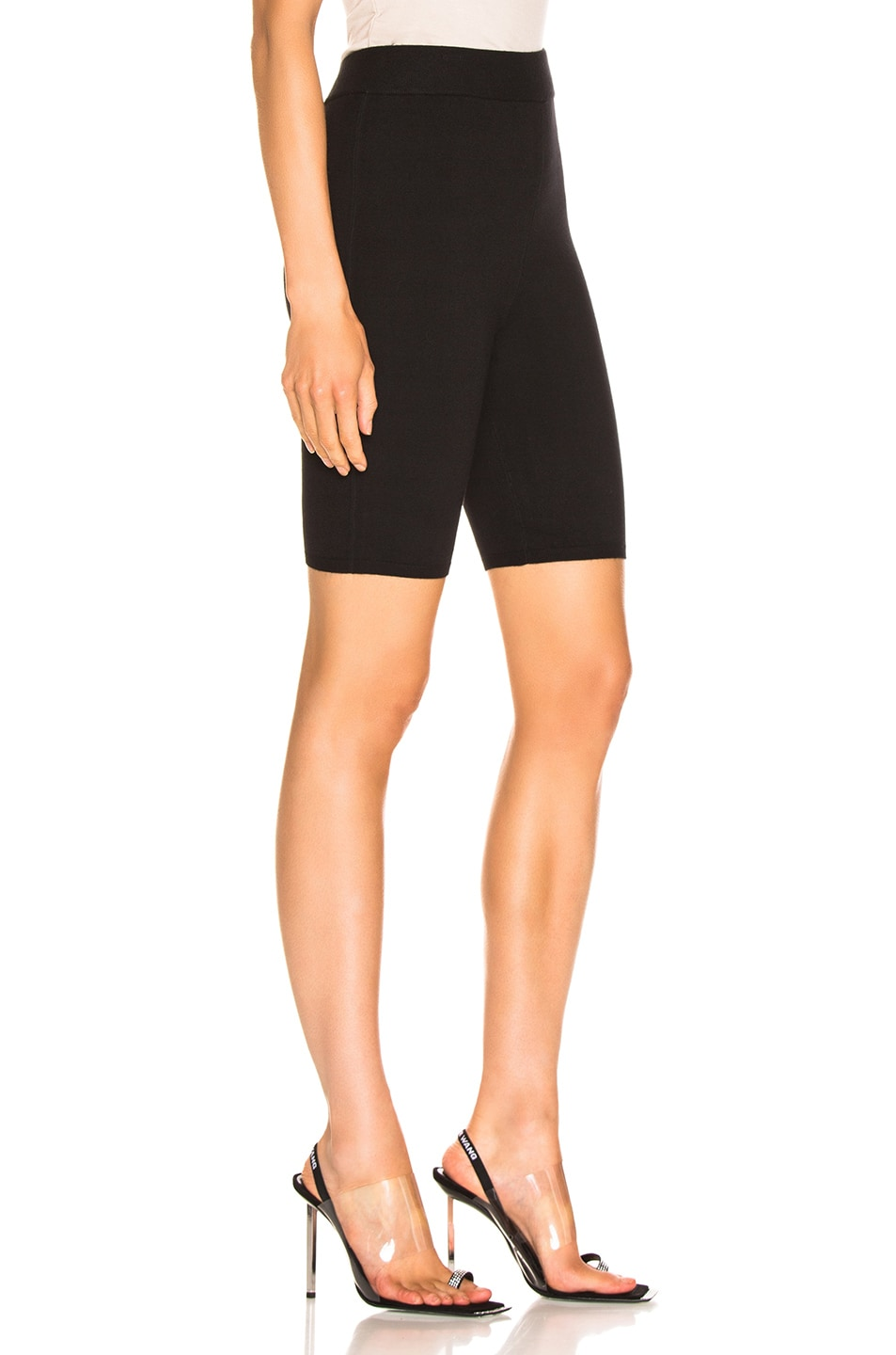Image 2 of T by Alexander Wang Bodycon Basic Biker Short in Black