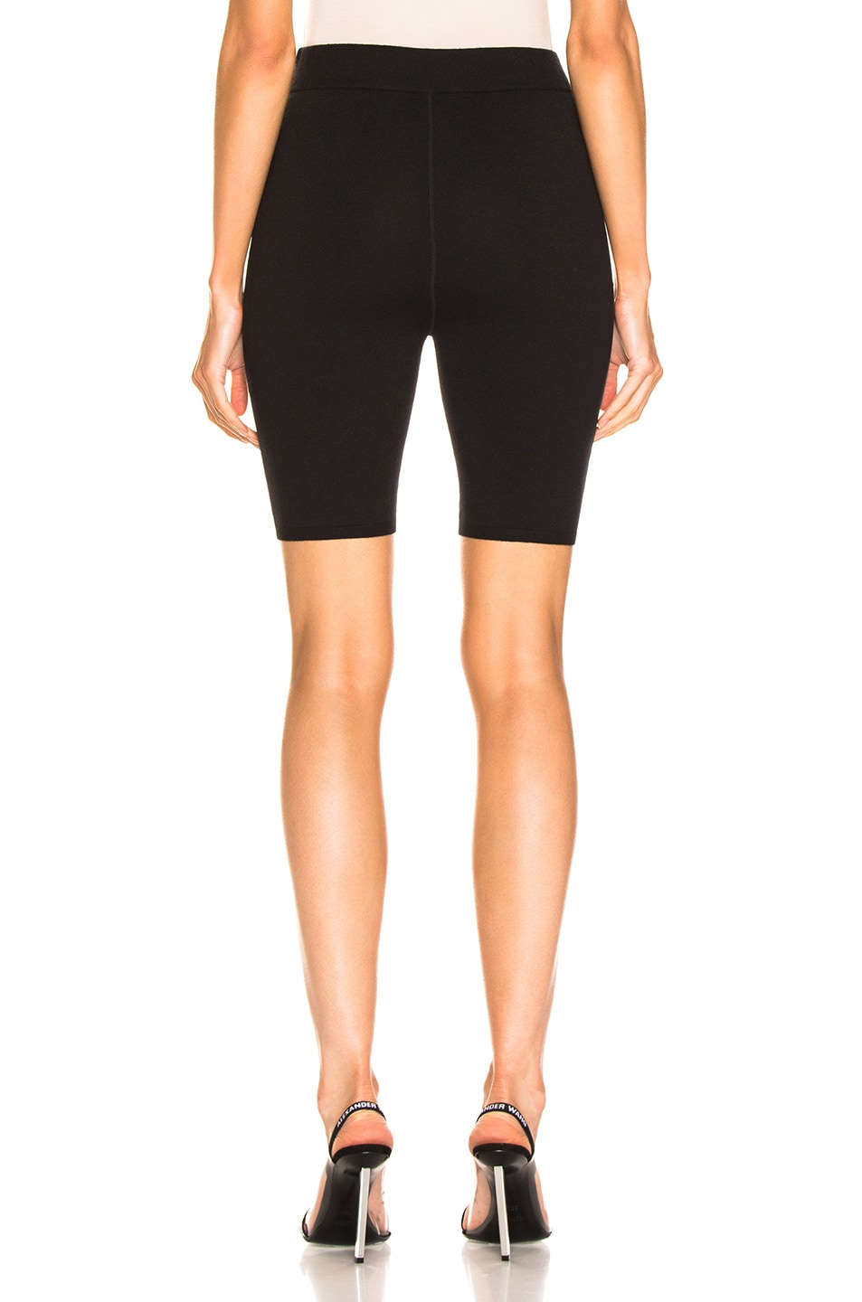 Image 3 of T by Alexander Wang Bodycon Basic Biker Short in Black
