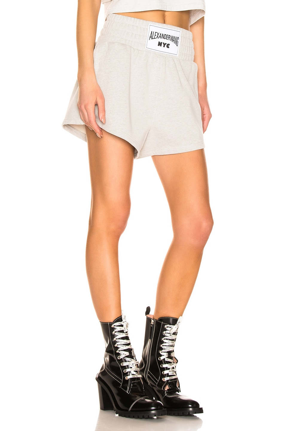 Image 2 of T by Alexander Wang Lightweight Short in Heather Grey