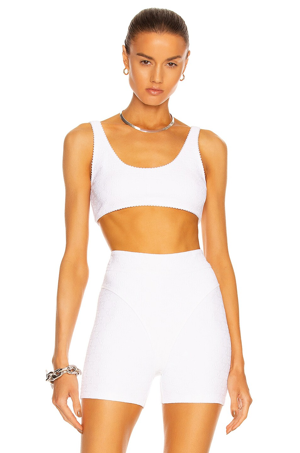 Image 1 of T by Alexander Wang Logo Bra in White