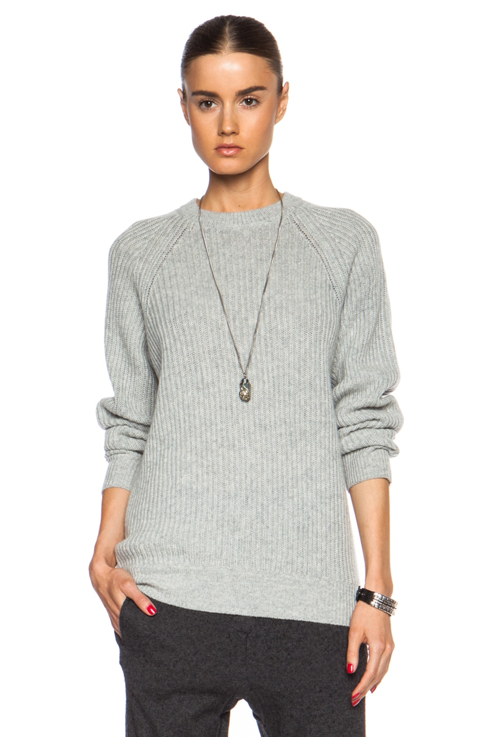 Alexander Wang crew neck jumper - Grey Wholesale Price Cheap Price Real Cheap Online Sale Great Deals bF1tua