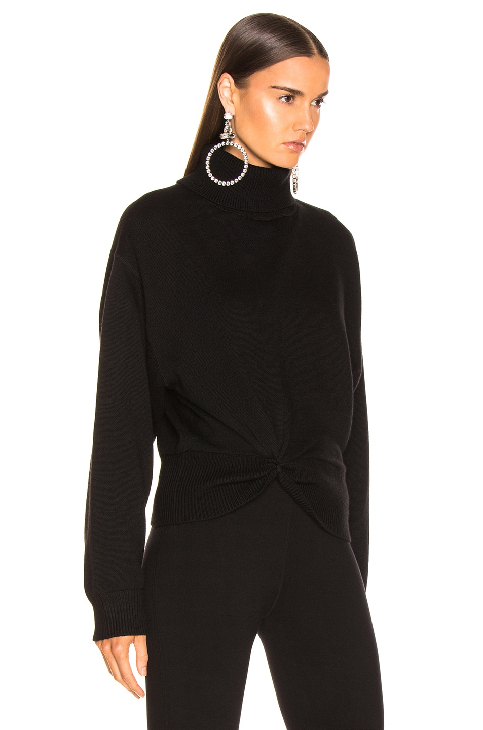 T by Alexander Wang Double Layered Turtleneck Sweater Black 85%OFF