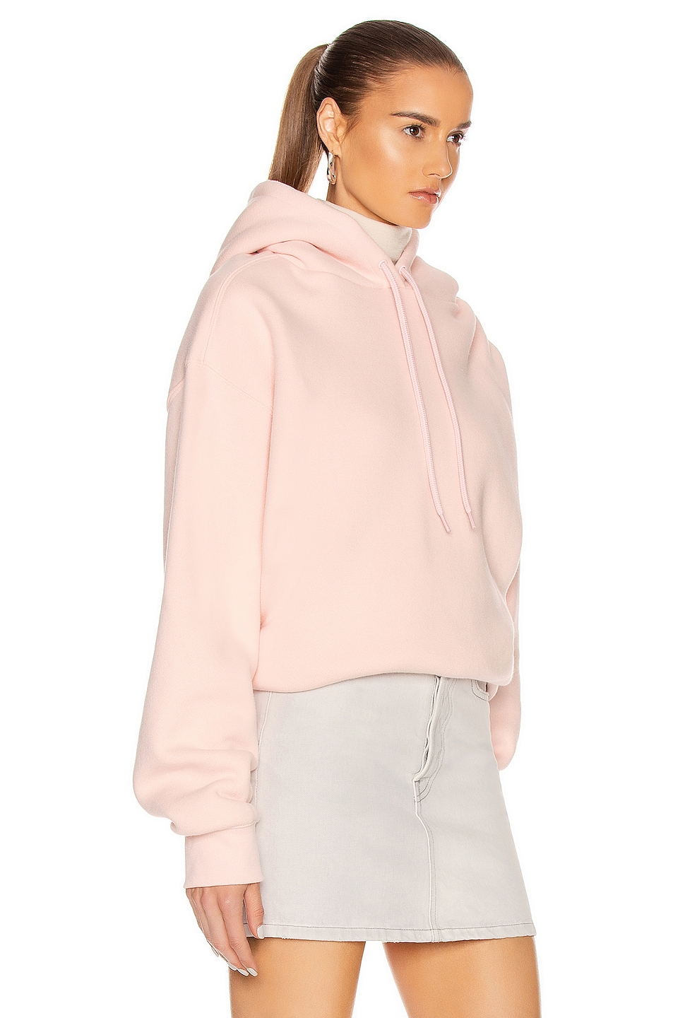 Image 2 of T by Alexander Wang Puff Paint Bubble Hoodie in Light Melon
