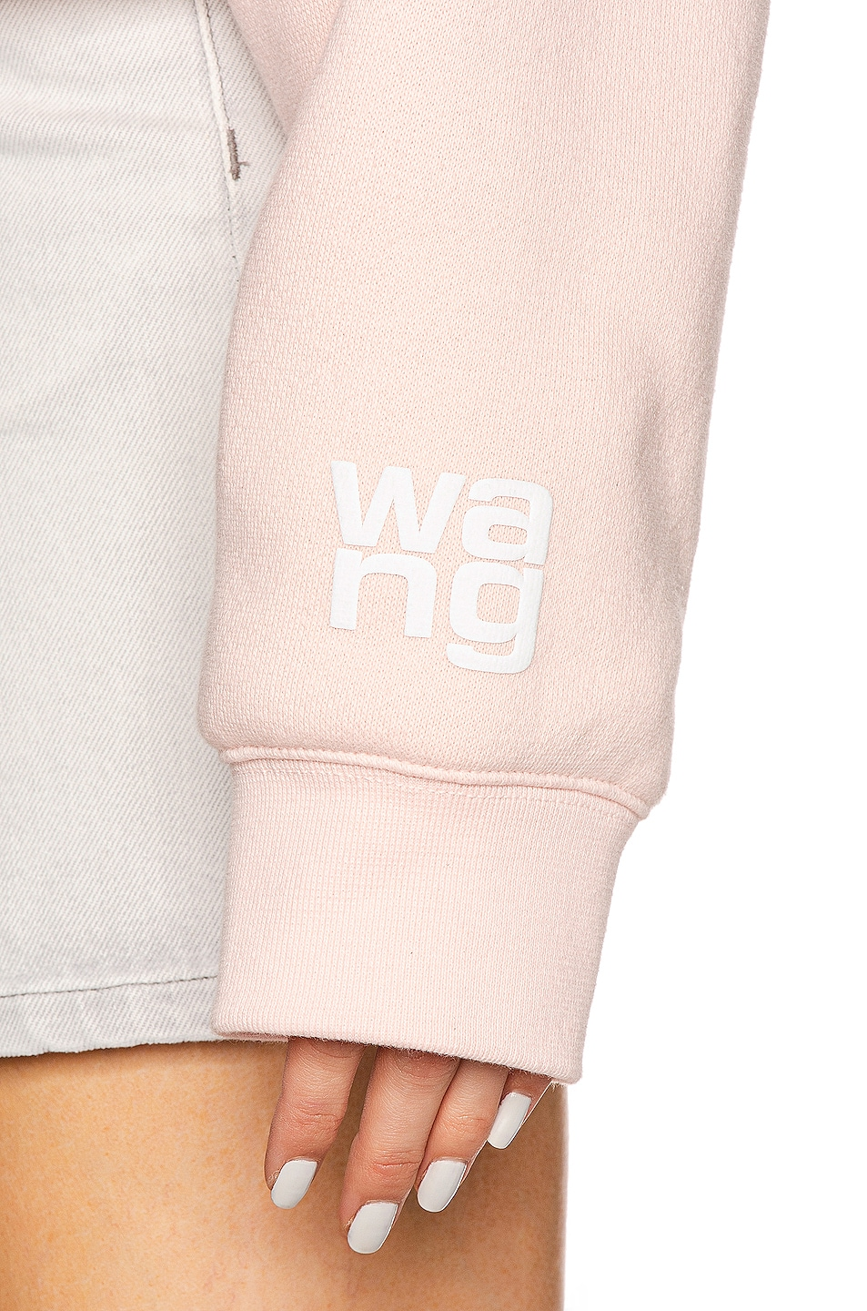 Image 6 of T by Alexander Wang Puff Paint Bubble Hoodie in Light Melon