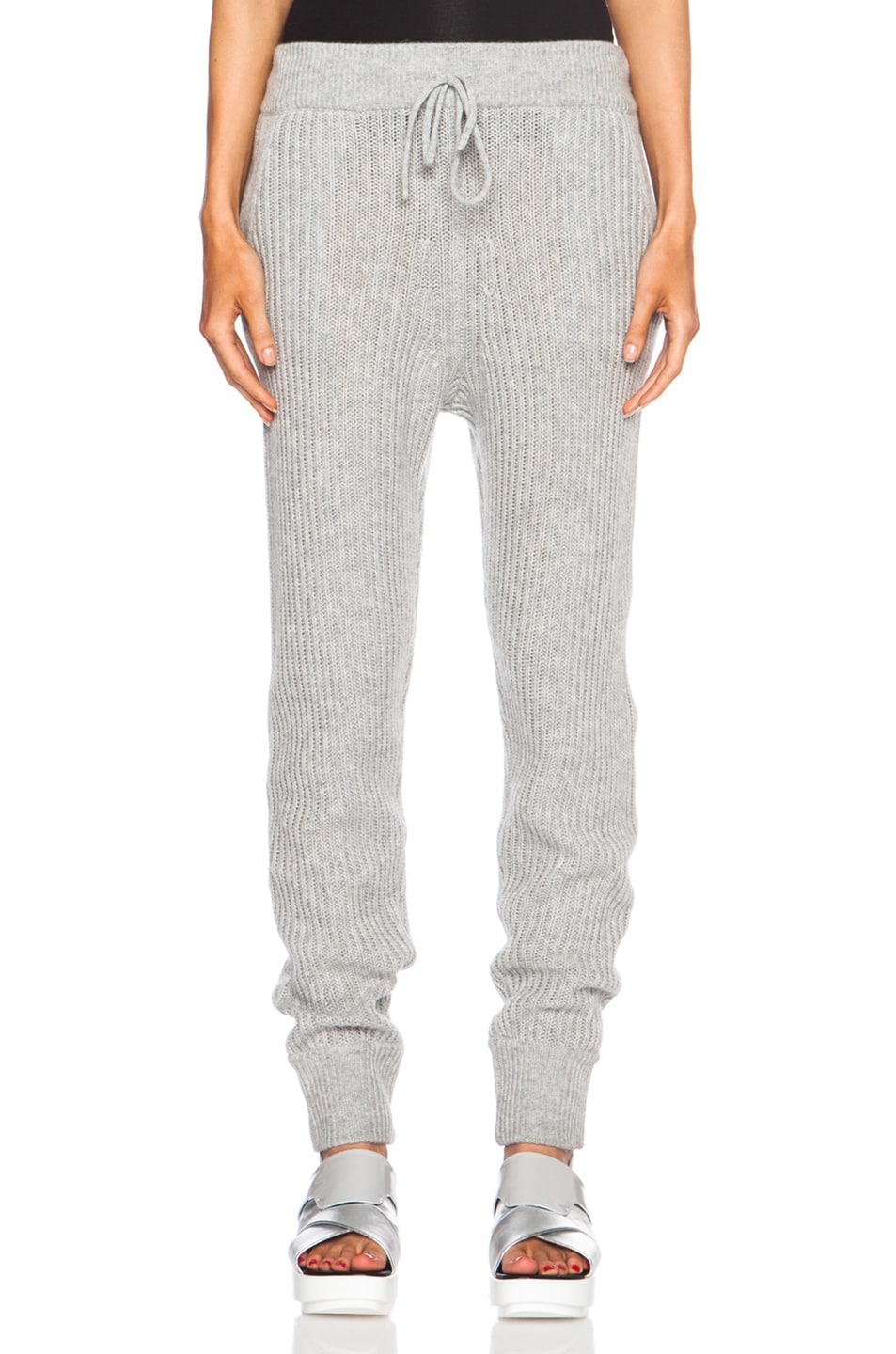 Image 1 of T by Alexander Wang Wool-Blend Sweatpants in Heather Grey