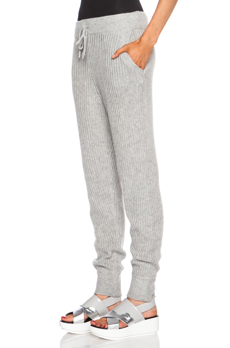 Image 2 of T by Alexander Wang Wool-Blend Sweatpants in Heather Grey