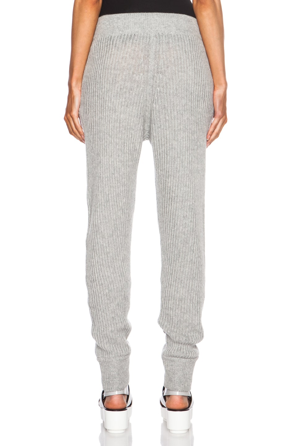 Image 4 of T by Alexander Wang Wool-Blend Sweatpants in Heather Grey