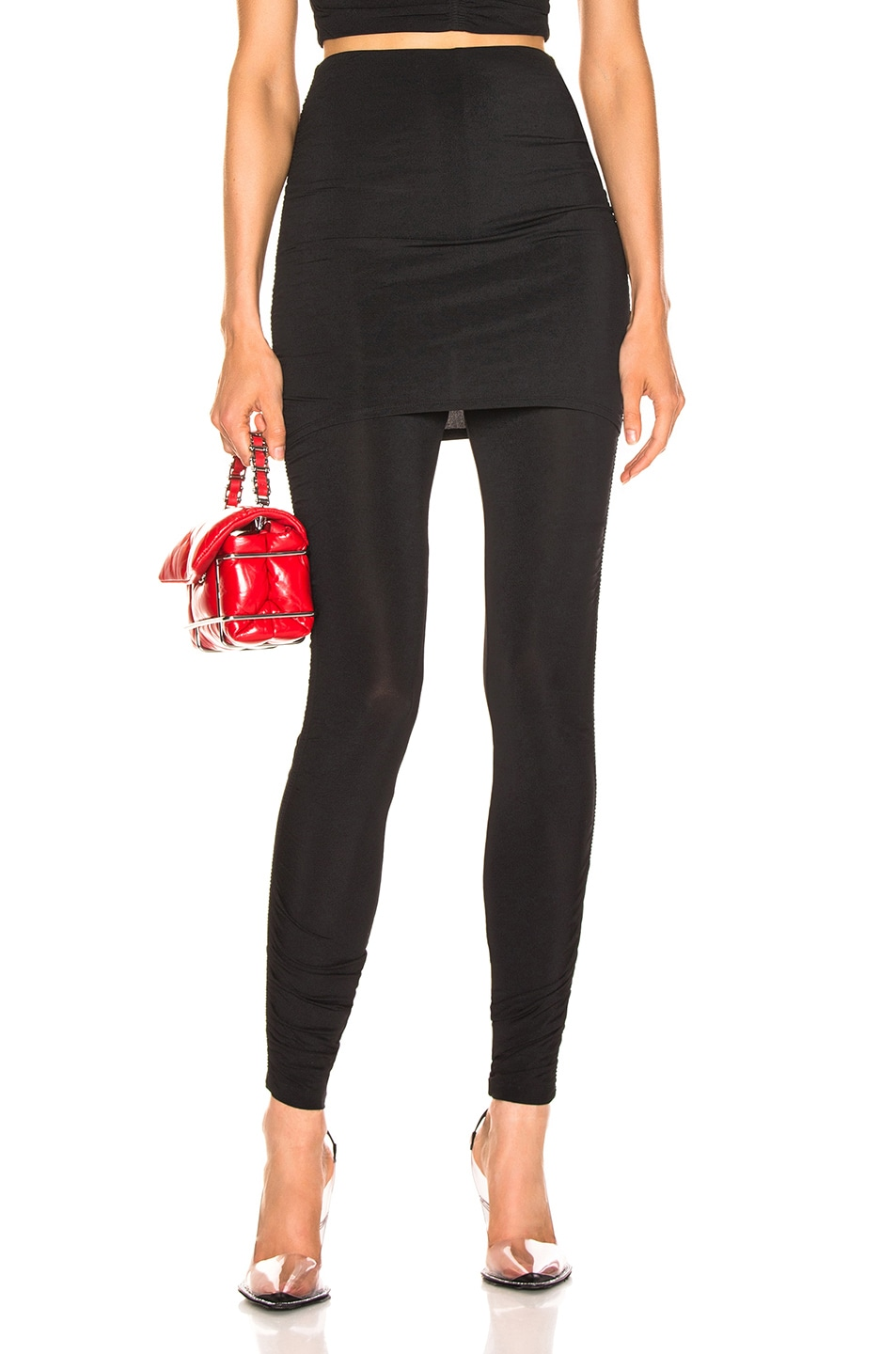 Image 1 of T by Alexander Wang Crepe Twist Legging in Black