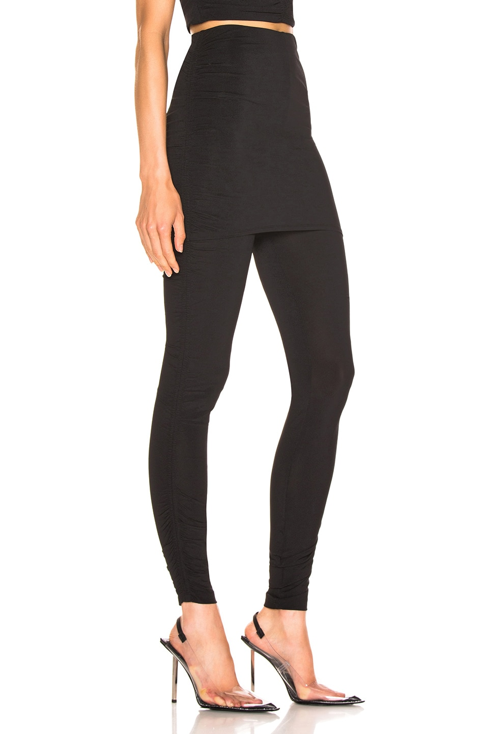 Image 2 of T by Alexander Wang Crepe Twist Legging in Black